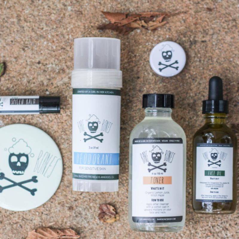 Spiced Lip Balm, Deodorant, Toner, Face Oil
