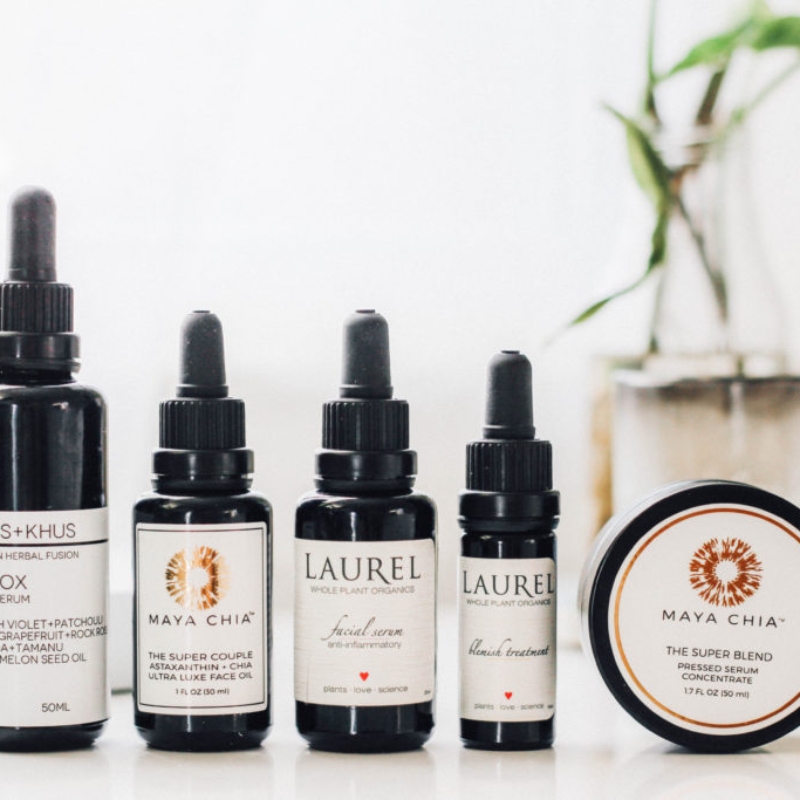 Organic serum, face oil and blemish treatment